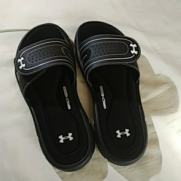 buy discount coupon where can i buy Under Armour Memory foam Slides NWOT
